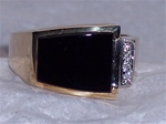 Men's Black Onyx Ring