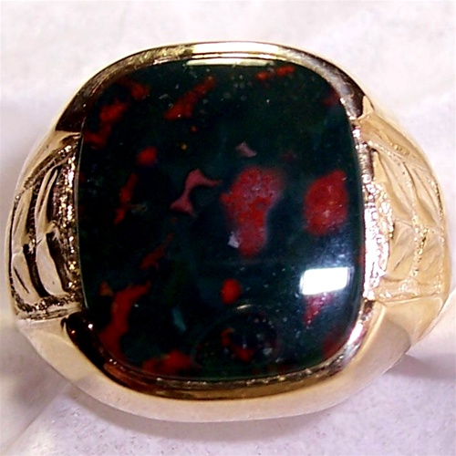 Black opal silver ring