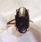 Women's Bloodstone Ring