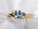 Women's Blue Topaz Ring