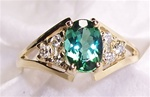 Women's Green Tourmaline Ring