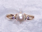 Women's Pearl Ring