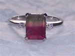 Women's Watermelon Tourmaline Ring