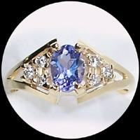 Tanzanite & Blue Topaz Rings