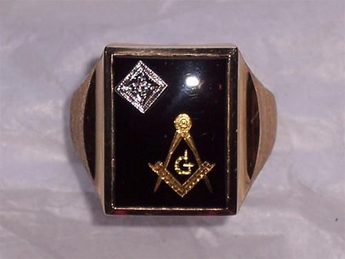 Black Onyx Masonic Ring Custom Made Black Onyx With