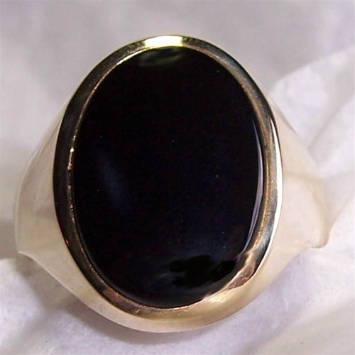 Men S Black Onyx Ring