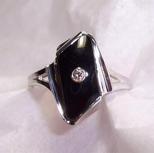Women S Black Onyx Ring