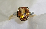 Women's Citrine Ring